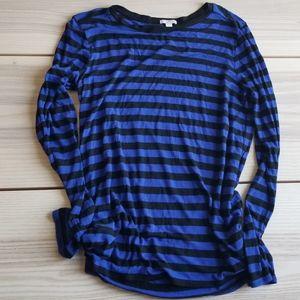 GAP striped light flowy long sleeve shirt